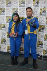 A couple of vault dwellers from the Fallout series.