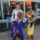 A Genderbent Yuna with Wakka from Final Fantasy X.