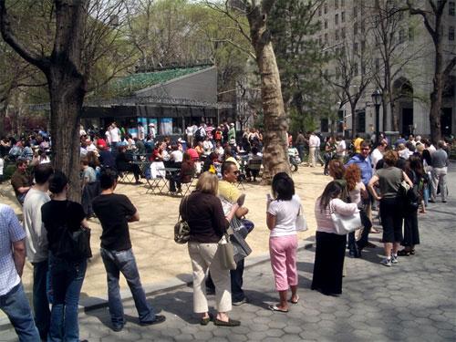 The line at Madison Square Parks Shake Shack