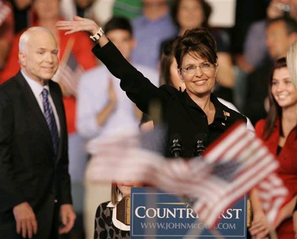 John McCain introduces Sarah Palin as his runningmate