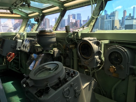 Intrepid air craft carrier bridge, New York