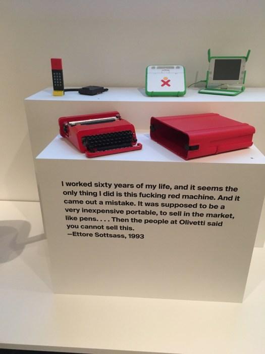Olivetti Typewriter, Ettore Sottsass Exhibit, Met Breuer, New York