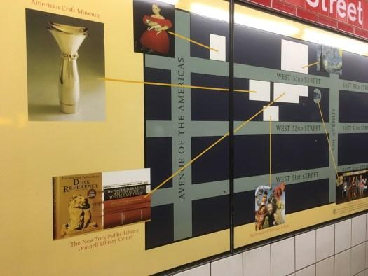 "5th Avenue ""Art Stop"" Subway Art"
