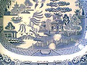 Printed Spode Willow Pattern