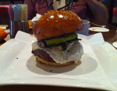 Guys, I have to be honest, this is a pic of an absolutely divine burger I had at Gordon Ramsay Burgr in Vegas!