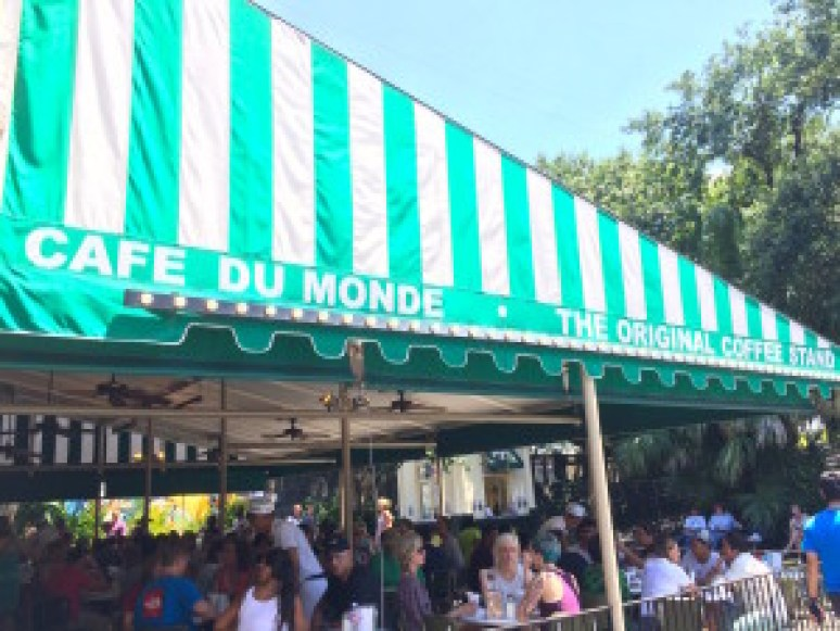 World famous beignets at Cafe du Monde.