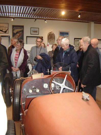 13. Admiring a Bugatti being rebuilt