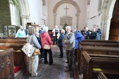 Talk in nave