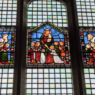 Christ & Children Stained Glass Ref. PS
