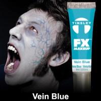 Vein Blue paint Tinsley makeup