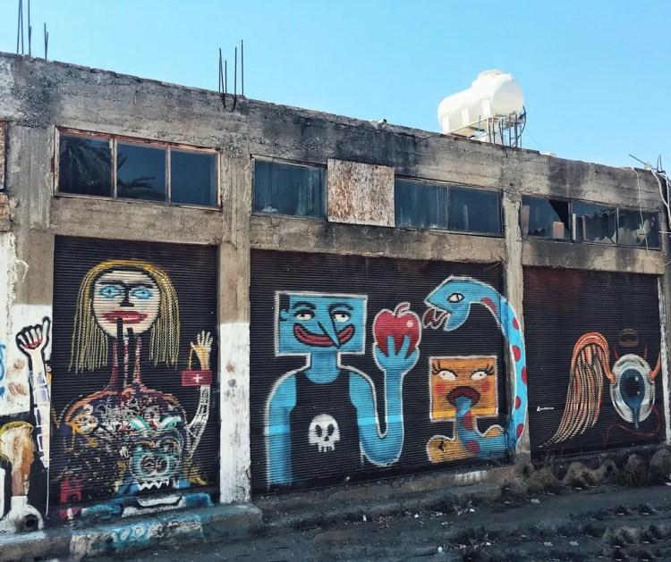 Grafitti in an industrial alleyway in Nicosia