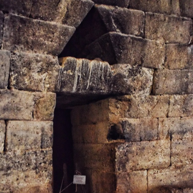 Side room in the Tomb of Agamemnon. Scholars do not agree as to its function.