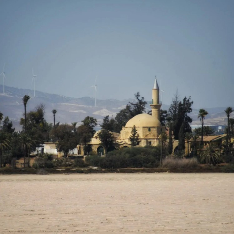 The Hala Sultan Tekkesi Mosque on the Larnaca Salt Lake