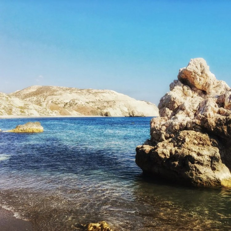 Petra tou Romiou, also known as Aphrodite's Rock