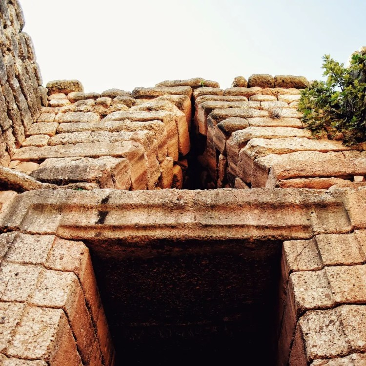 Entrance to the Tomb of Agamemnon, also called the Treasury Atreus