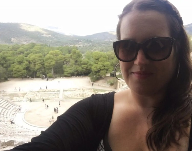 At the top of the Great Theater of Epidaurus. My selfie game is on point lately.