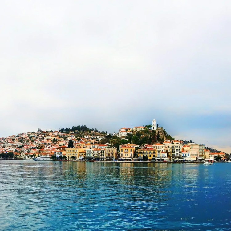 Sailing away from the Greek Island of Poros in late October