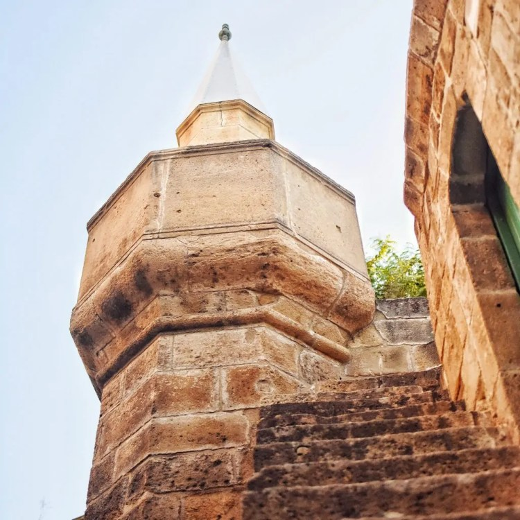 A minaret of a church-turned-mosque-turned church again in Cyprus