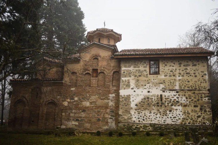 Boyana Church from the side shows the different eras of construction