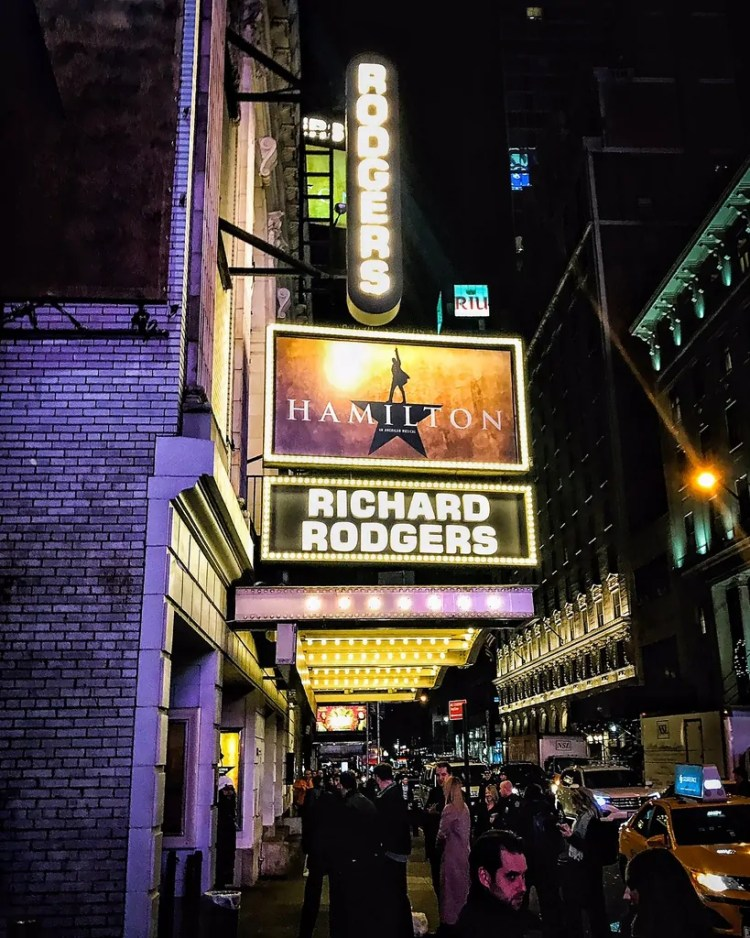 I got to the Richard Rodgers theater with 5 minutes to spare. Whew!