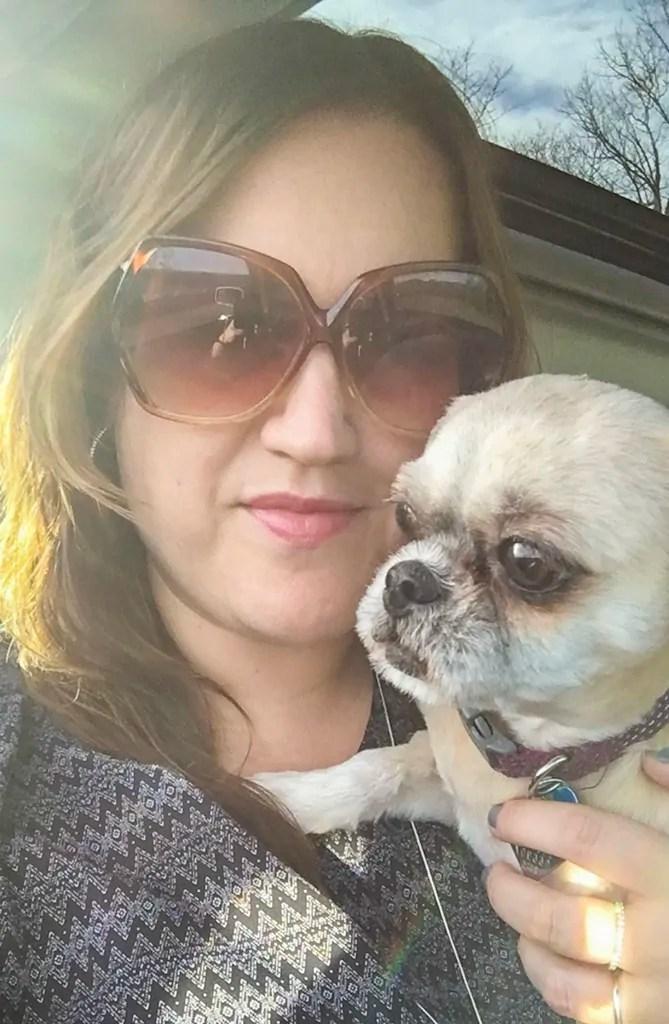 Road Trip Selfie with Dog