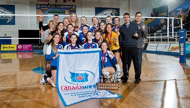 Women's Volleyball Canada West Champions