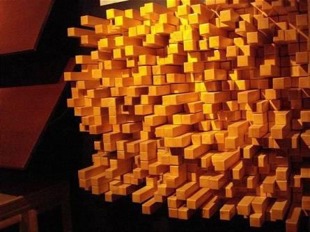 Mẫu gỗ tán âm nhiều chiều