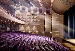 Nhà hát ốp tấm polyester tiêu âm