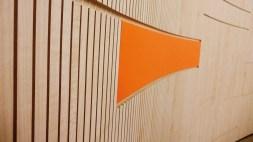 ốp tiêu âm tường với gỗ tiêu âm soi rãnh