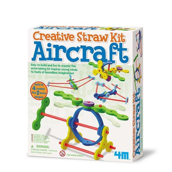 JUEGO DIDÁCTICO CREATIVE STRAW KIT AIRCRAFT