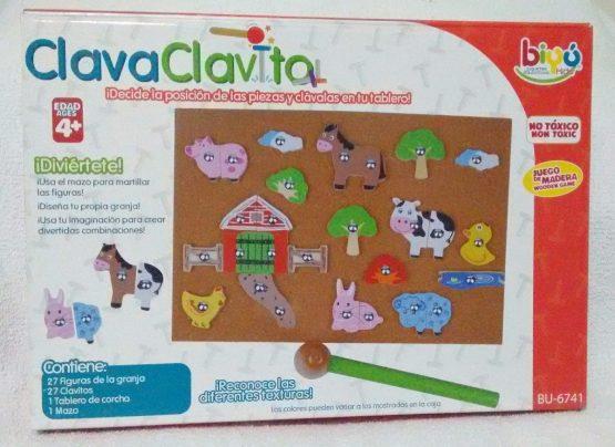 BU-6741 JUEGO DIDÁCTICO Clava Clavito Granja (Sin caja)