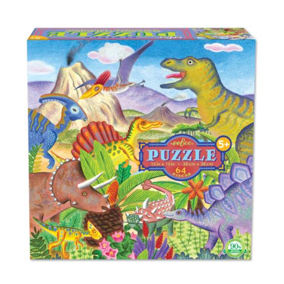 Rompecabezas Eeboo Isla De Dinosaurios 64 piezas