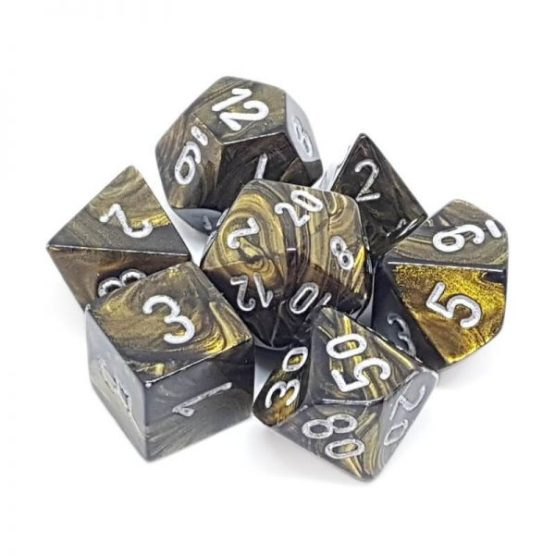 Chessex: Leaf Polyhedral 7-Die Set (SOBRE PEDIDIO)