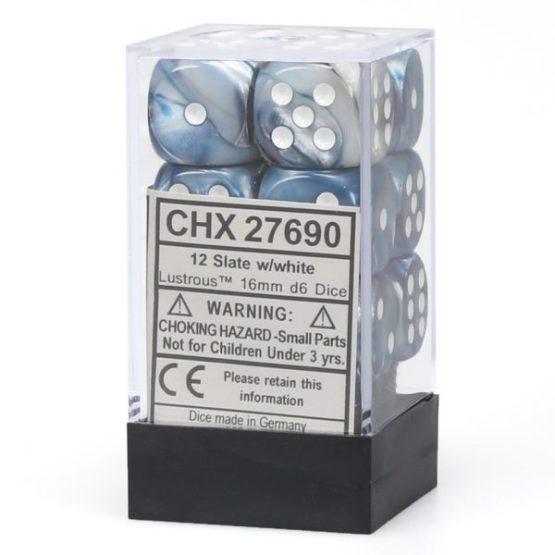 Chessex: Block of 16mm Lustrous d6 Dice (SOBRE PEDIDO)