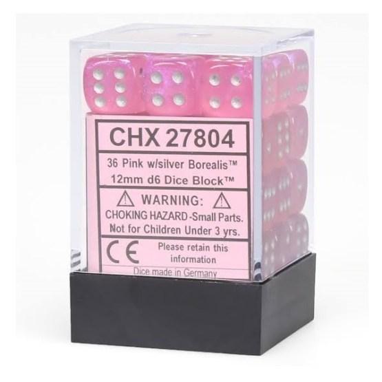 Chessex: Block of 12mm Borealis d6 Dice (SOBRE PEDIDO)
