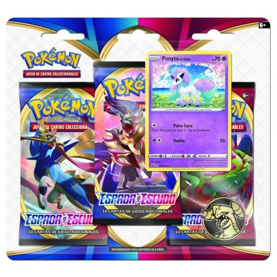 Pokémon TCG: Sword & Shield 1 Three-Booster Blister ESPAÑOL (SOBRE PEDIDO)