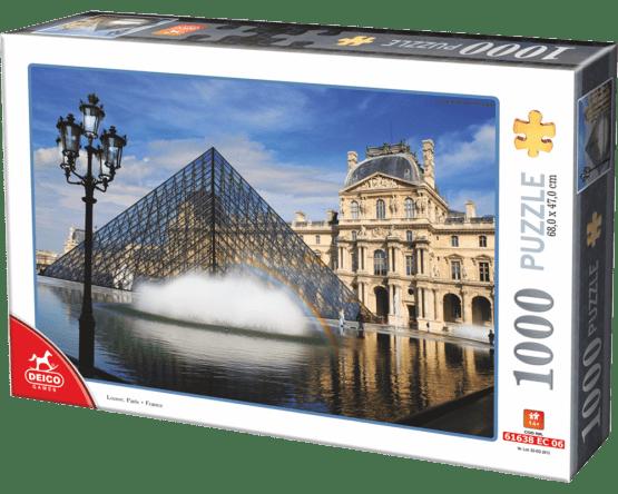 ROMPECABEZAS 1000 PIEZAS D-TOYS: MUSEO DE LOUVRE, PARÍS