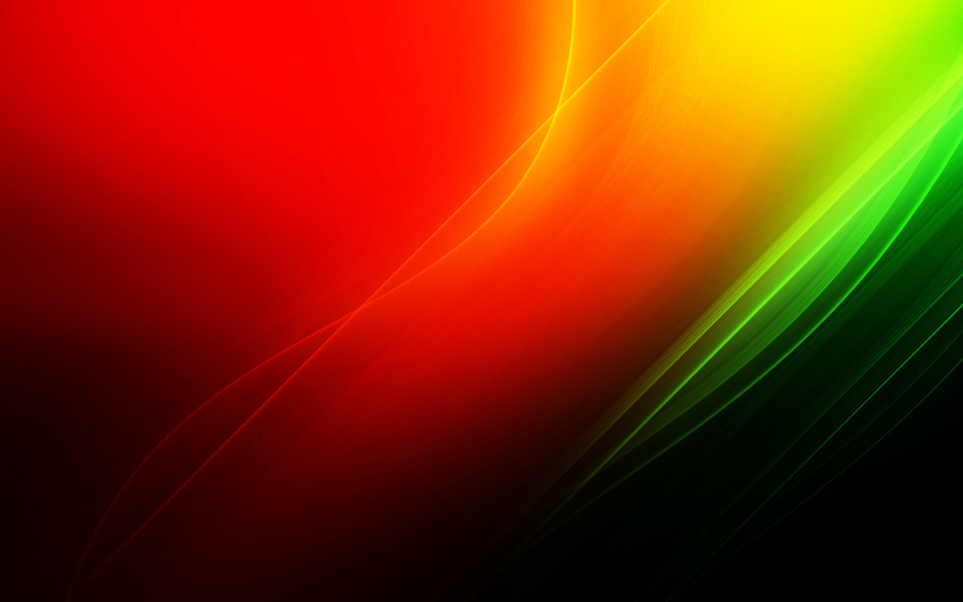 Abstract Red Yellow And Green Colors