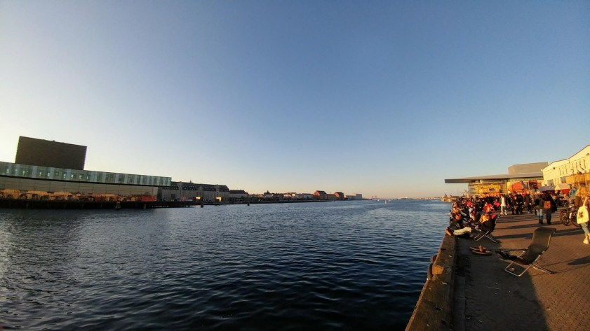 Looking down the river outside the Copenhagen Street Food Hall