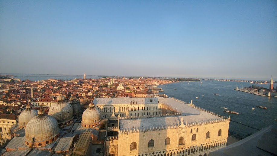 View from St Marks Companile in Venice