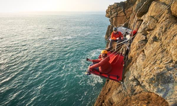 cliff camping 1