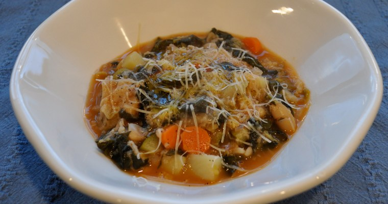 Ribollita (Tuscan vegetable and bread soup)