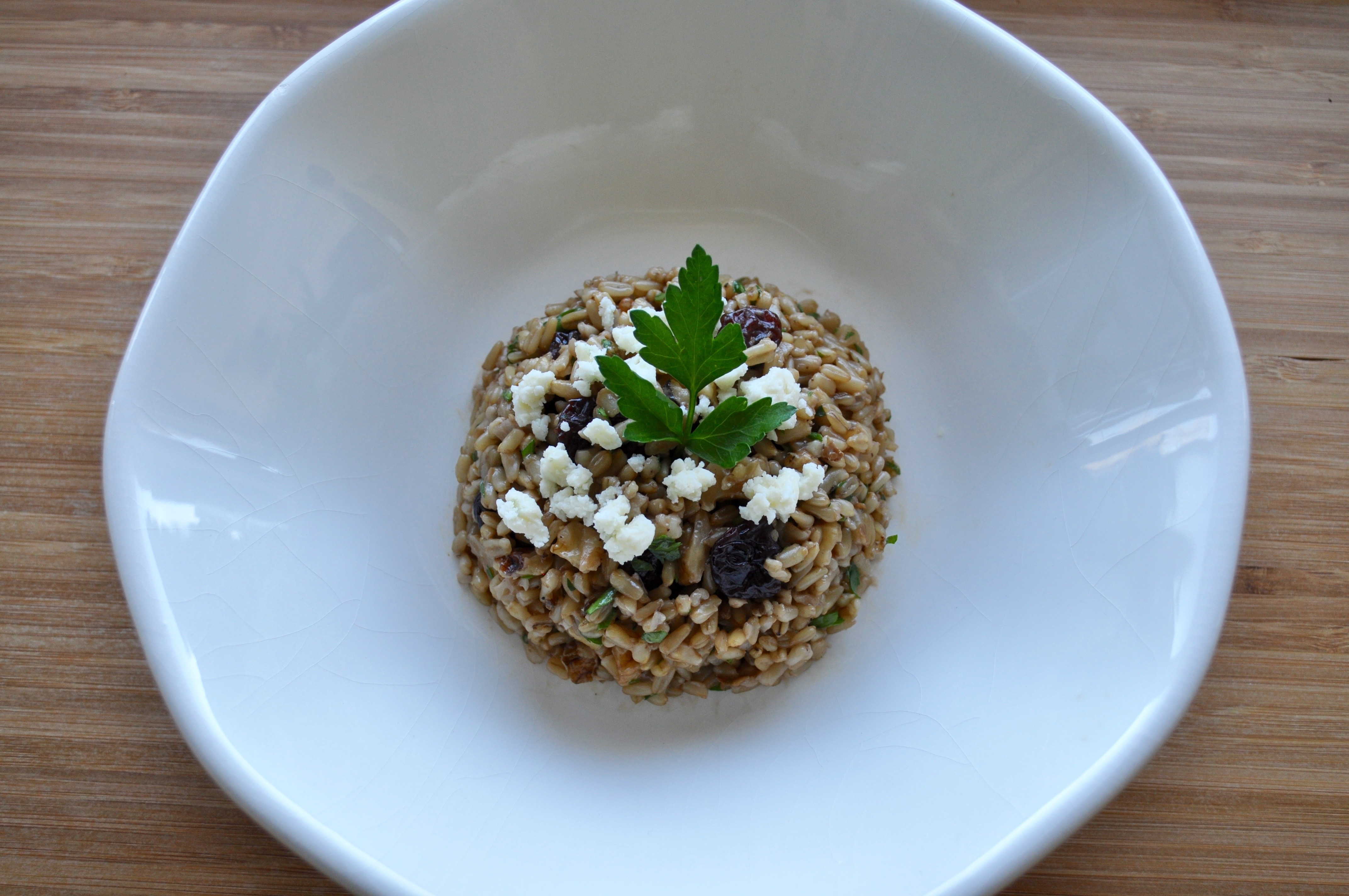 Oat Berry Pilaf with Walnuts