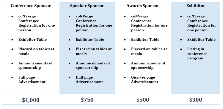 coNVerge Conference Exhibitors & Sponsors Pricing