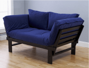 Expresso Elite Frame with Posh Blue Mattress - Sofa Position