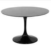 Lippa Saarinen Inspired Fiberglass Round Dining Table in Black1