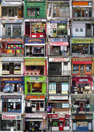 shabby storefronts