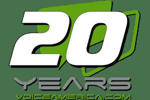 Voice America 20 years Logo