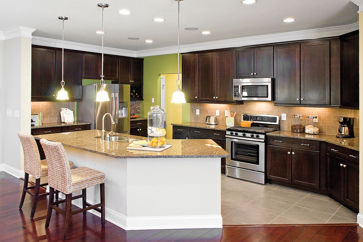 Beautiful Modern Lighting For Chic American Kitchen 7977 House Decoration Ideas