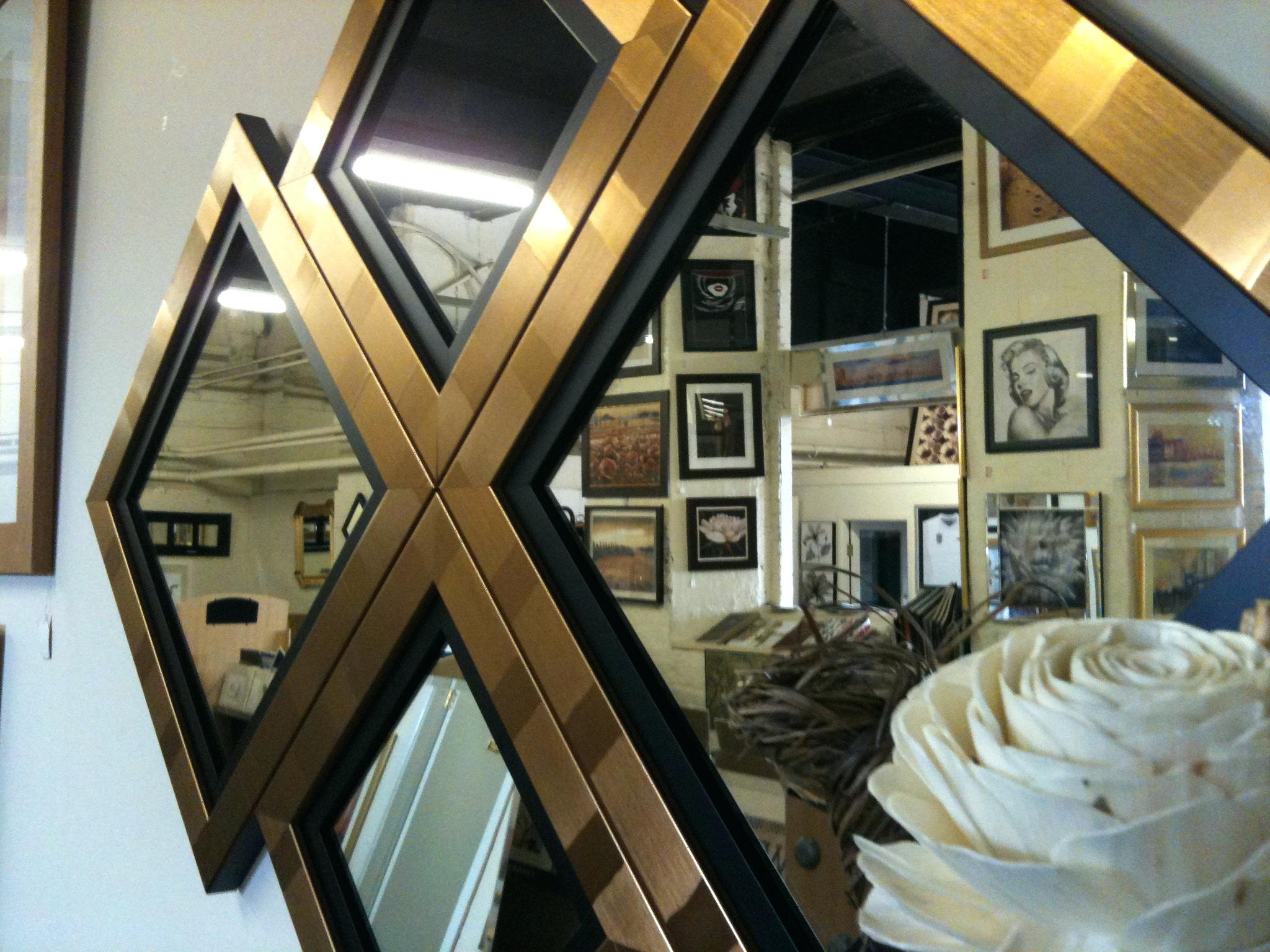 15 Photos Black And Gold Wall Mirror